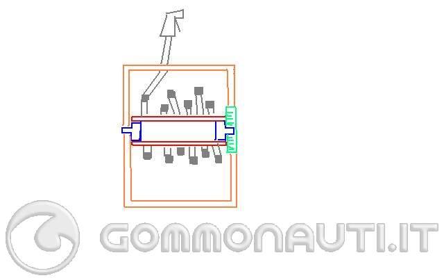 Realizzazione arrotolatore automatico doccetta retrattile for Doccetta barca