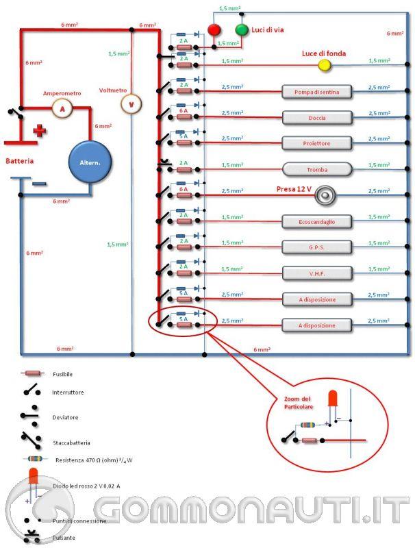 Schema Elettrico Yamaha Virago : Impianto elettrico con singola batteria