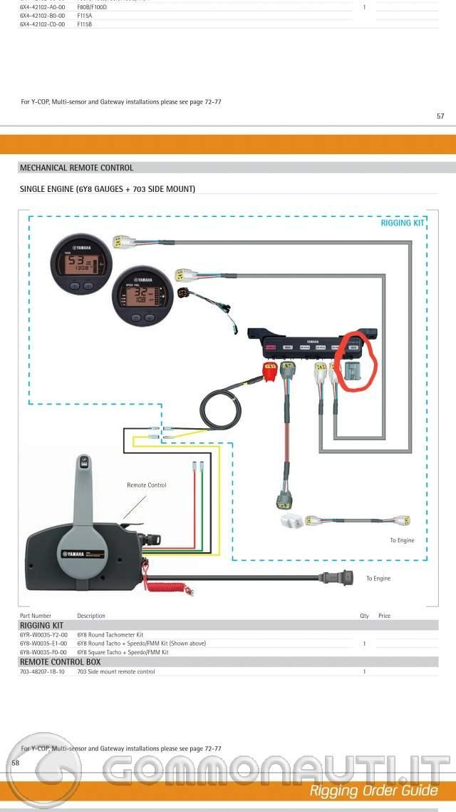 Schema Elettrico Yamaha Wr : Aiuto per collegamento strumenti yamaha four stroke cv