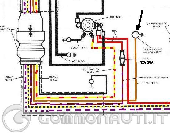 Schema Elettrico Johnson : Schema motore quello è un termostato