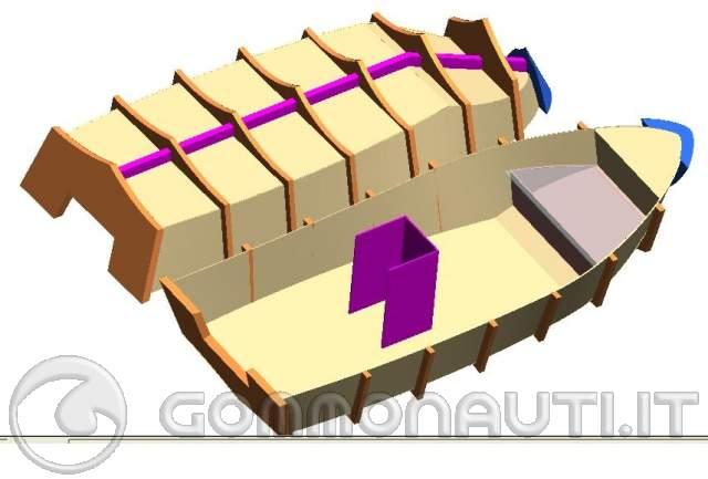 Autocostruzione barca in legno schiumapoliuretanica for Come costruire un mazzo di 2 piani