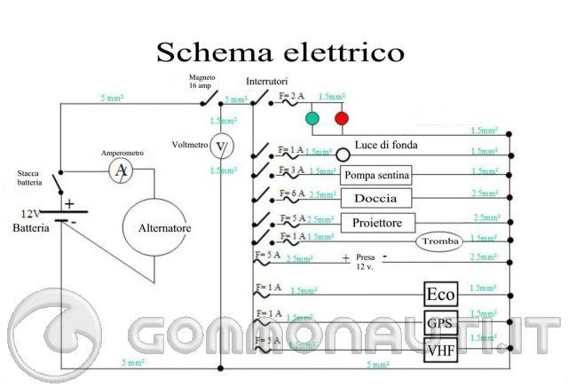 Schema elettrico barca con due batterie