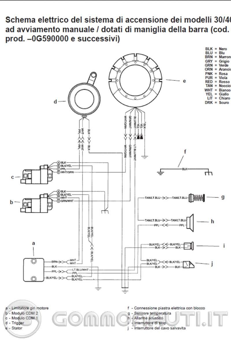 Schema Elettrico Yamaha Tdm : Regolatore bifasico mercury schema elettrico