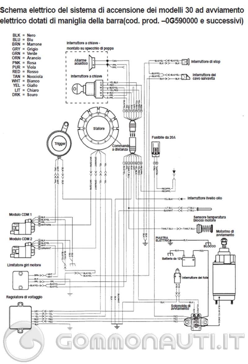 Schema Elettrico Yamaha Wr : Regolatore bifasico mercury schema elettrico pag