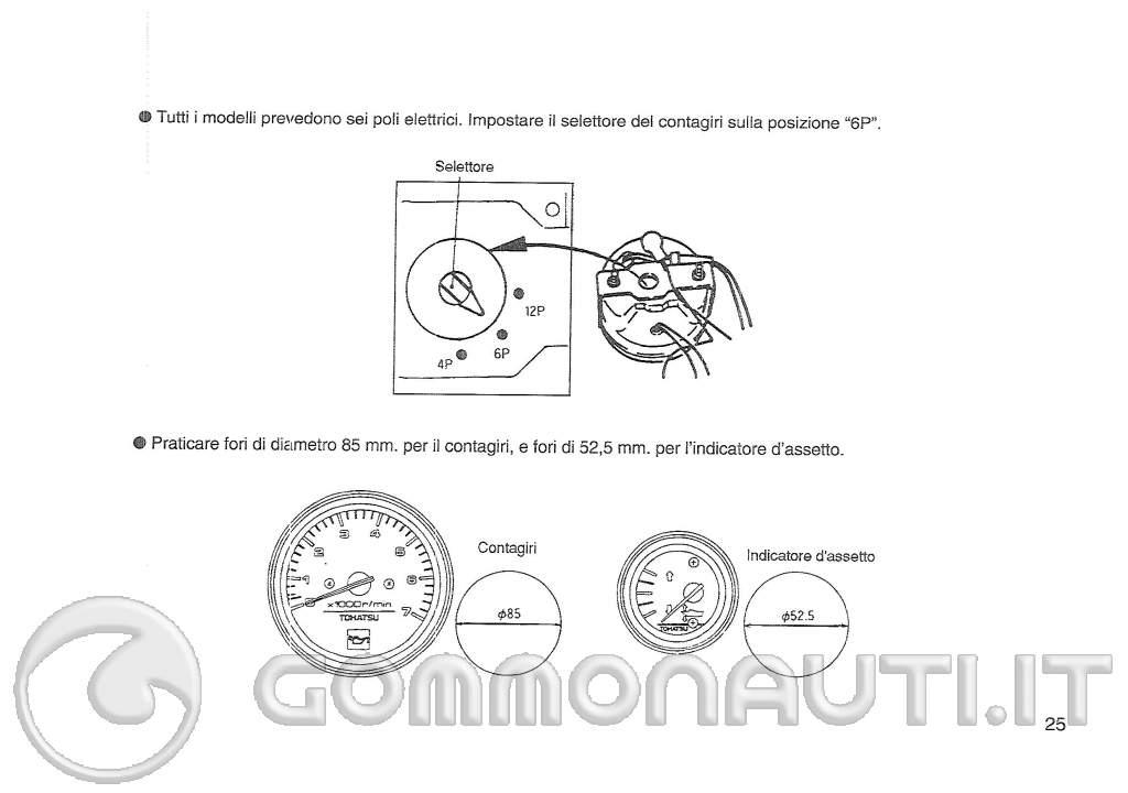 Schema Elettrico Voltmetro Per Auto : Schema elettrico contagiri trim per tohatsu mega