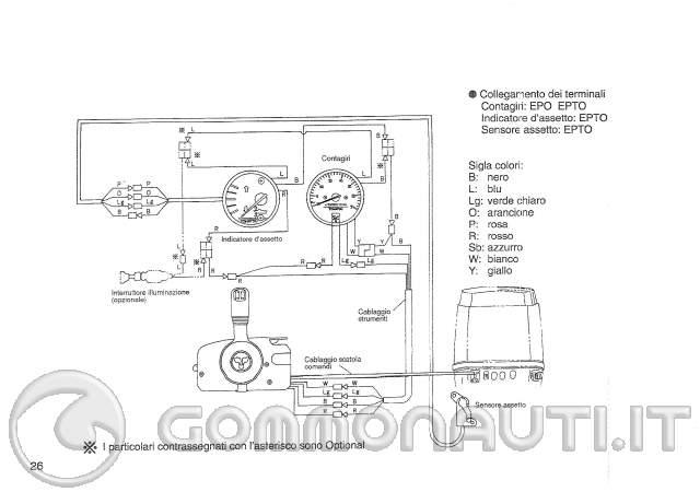 Schema Elettrico Per Orang : Schema elettrico contagiri trim per tohatsu mega