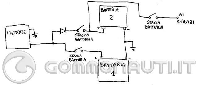 Schema Collegamento Motorino Tergicristallo : Gestione batteria motore e di servizio pag