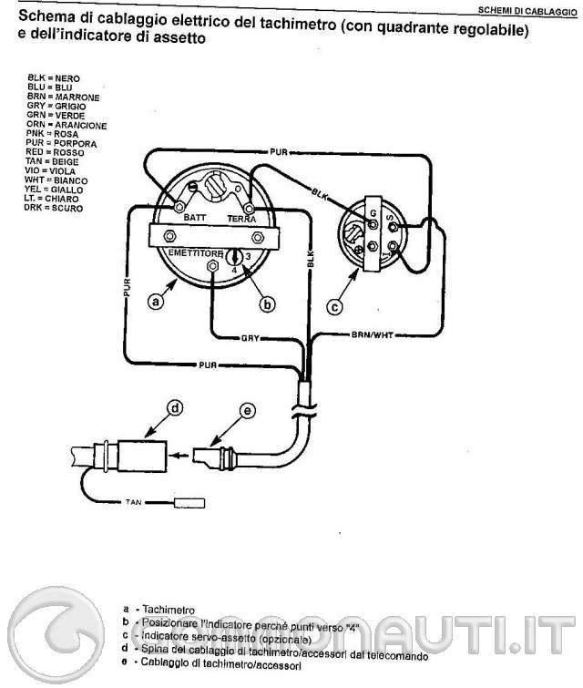 Schema Cablaggio Spina 7 Poli : Strumento indicatore trim problemi nel collegamento