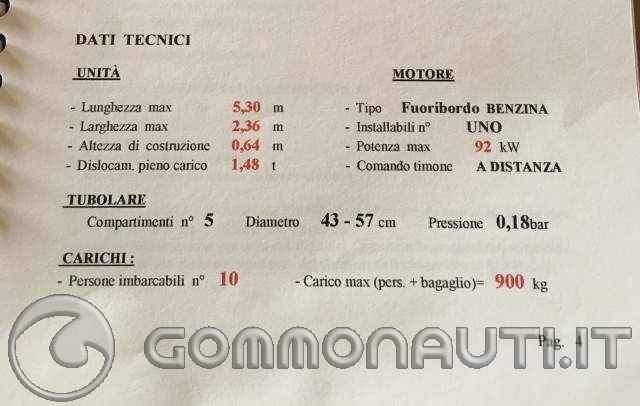 re: [Gemini 530 gommone] problematica ce