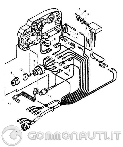 Schema Elettrico Yamaha Ttr : Tohatsu mega segnalazione olio