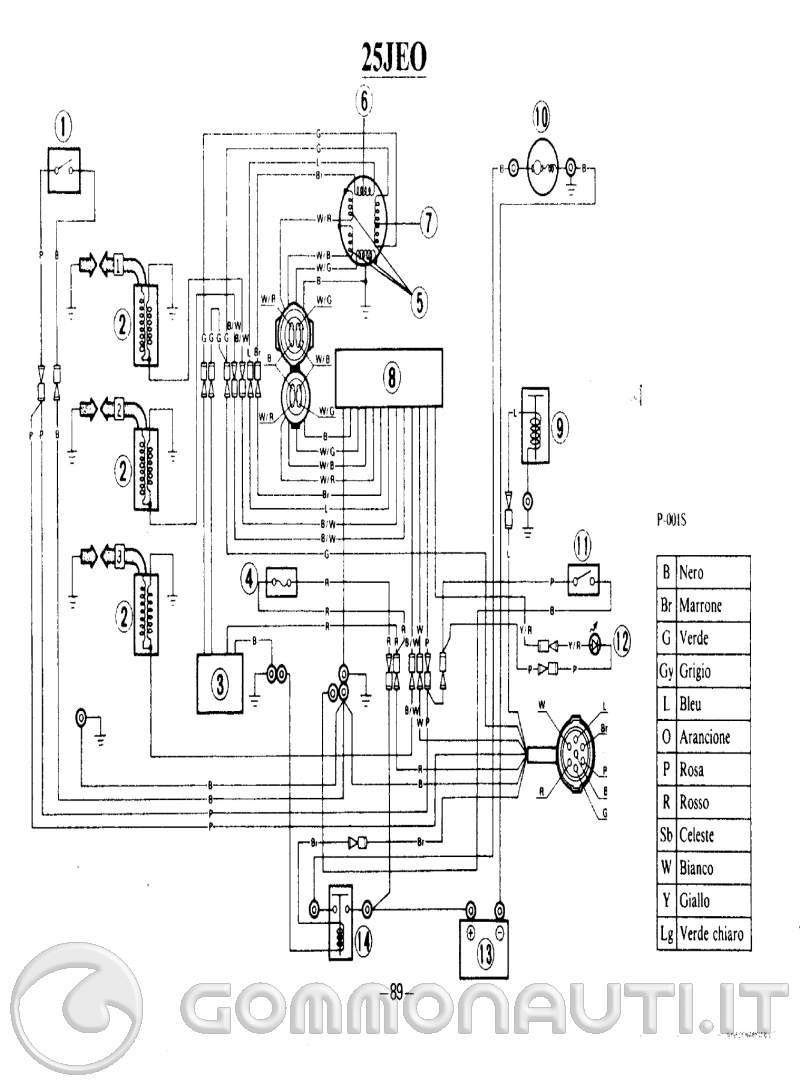 Schema Elettrico Yamaha Dt : Cortocircuito yamaha j pag