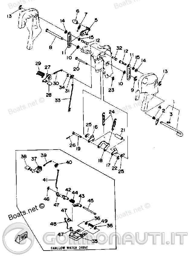 Schema Elettrico Yamaha Autolube : Problema trim manuale yamaha autolube gambo lungo pag