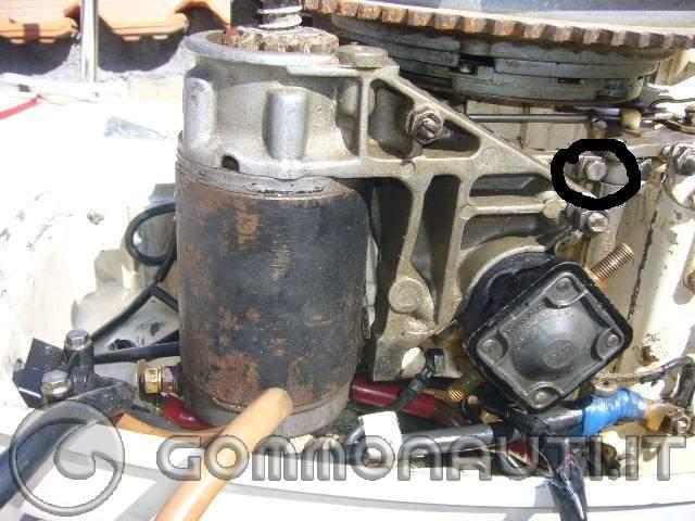 Schema Elettrico Evinrude 521 : Motorino di avviamento johnson come si smonta