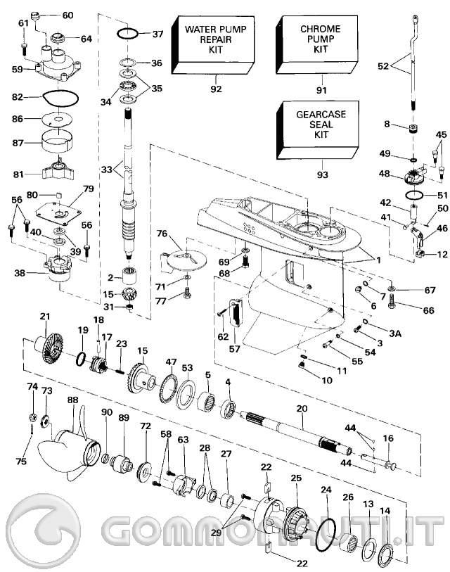 Schema Elettrico Evinrude 521 : Manutenzione evinrude del