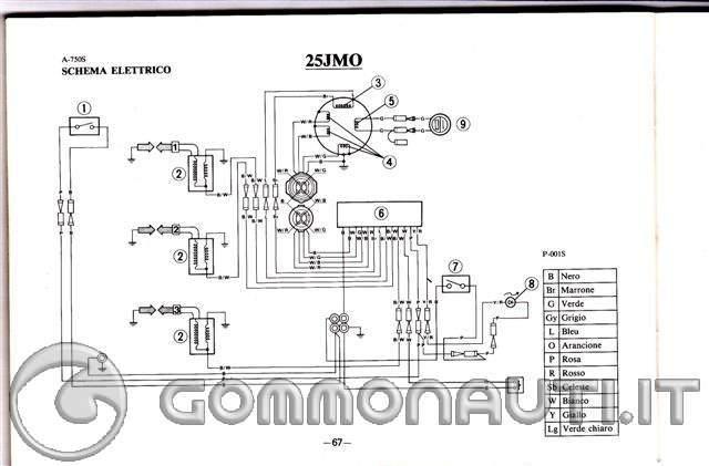 Schema Elettrico Yamaha Ttr : Corrente per caricare batteria da yamaha cv del con