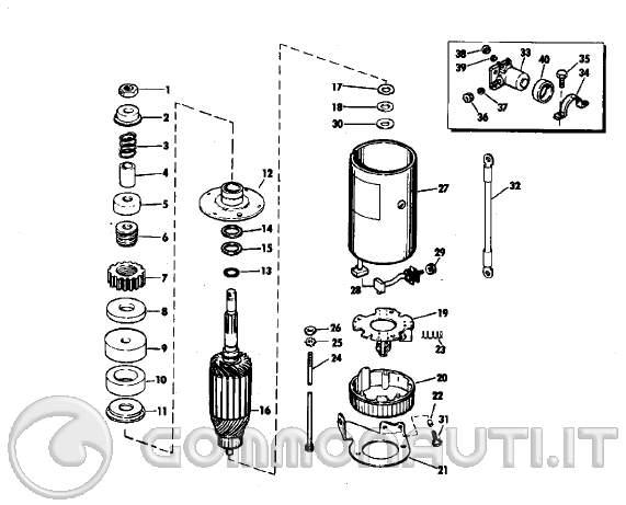 Schema Elettrico Motorino Avviamento : Trapianto avviamento elettrico da evinrude cv al