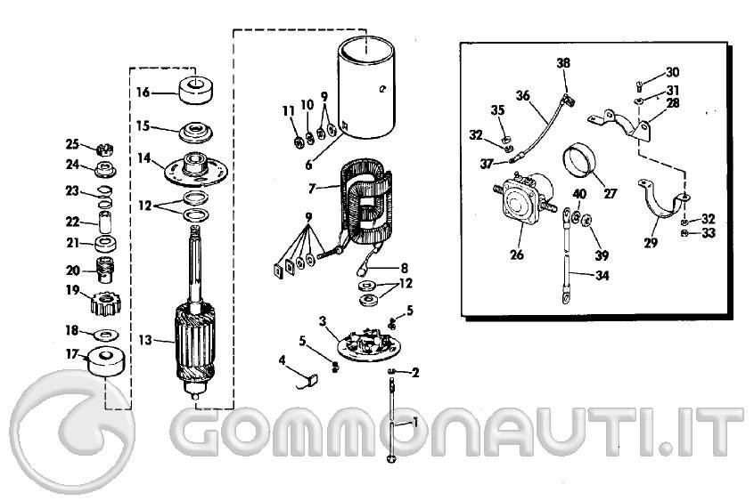 Schema Elettrico Alternatore : Trapianto avviamento elettrico da evinrude cv al