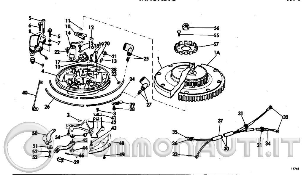 problema accensione johnson 40 cv 1971