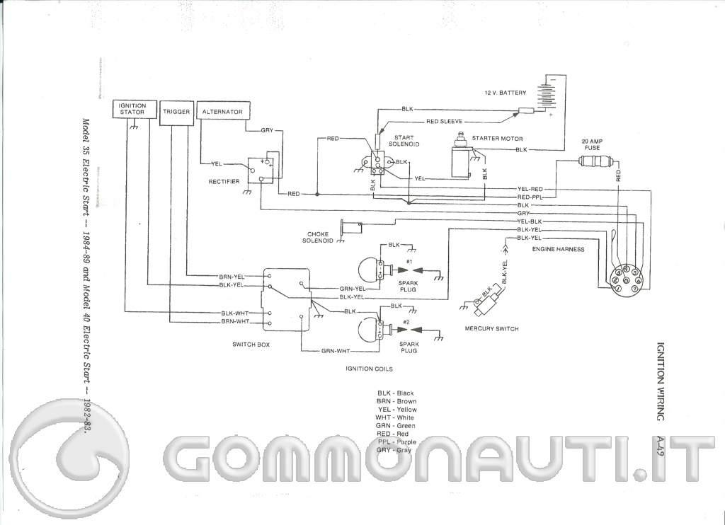 Mercury 25 collegamenti elettrici for Collegare fili elettrici
