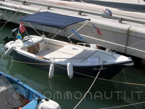 Lancia oven 500 suzuki df 25 4t for Barca lancia vetroresina