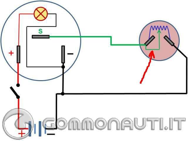 Schema Elettrico Per Finecorsa Motoriduttore : Collegamento elettrico galleggiante serbatoio carburante
