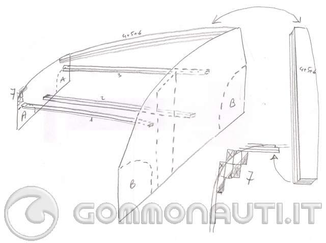 Costruzione hard top cabina vetroresina di prua bwa 740 for Piani di cabina contemporanei
