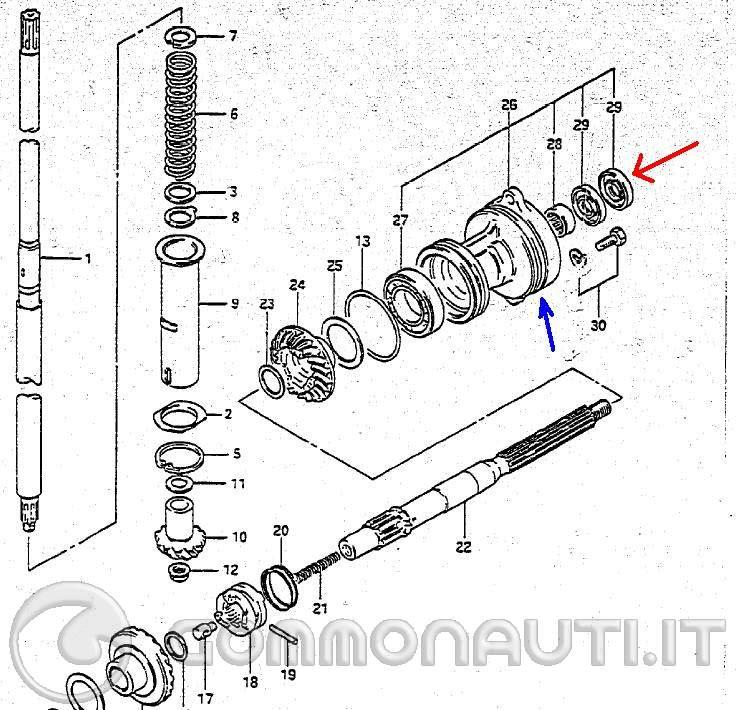 Ptopic47596 sostituzione paraolio dietro elica piede motore 25 cv superthree suzuki together with  on ancona honda