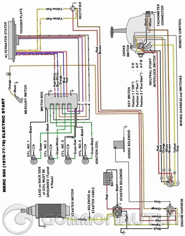 Mercury Superamerica 4 Cil  U0026 39 88  Impianto Elettrico E Motore Va A 2 Cil