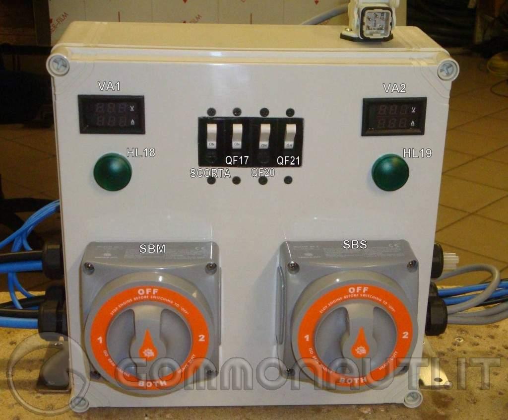 Schema Elettrico Barca : Impianto elettrico barca con doppia batteria protezioni