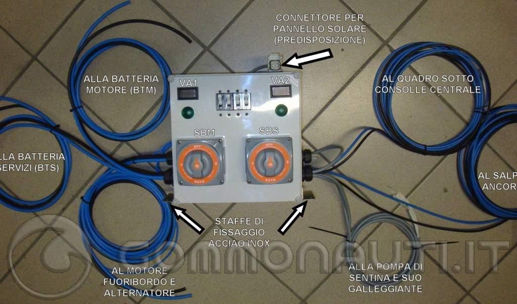 Pannello Solare Per Ricarica Batteria Barca : Impianto elettrico barca con doppia batteria protezioni