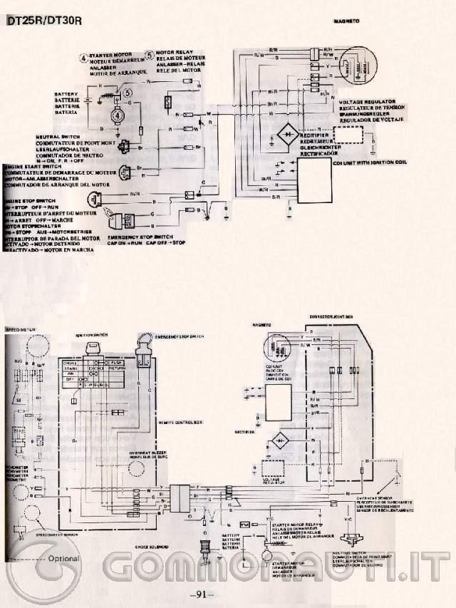 Schema Elettrico Yamaha Mt 03 : Cablaggio avviamento elettrico suzuki dt