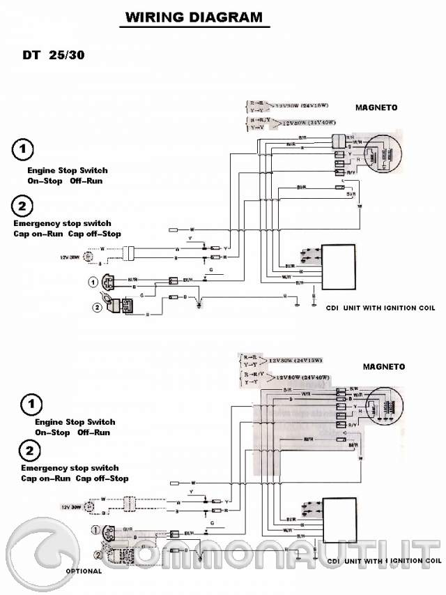 Schema Elettrico Yamaha Ttr : Cablaggio avviamento elettrico suzuki dt