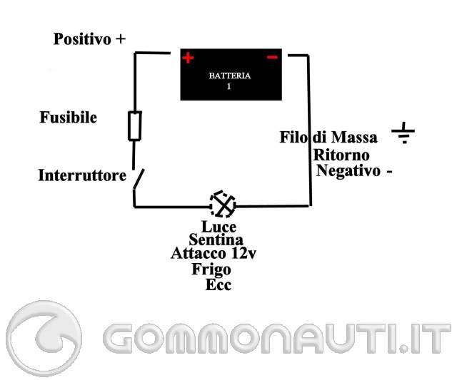 Schema Elettrico Yamaha Tdm : Impianto elettrico con singola batteria