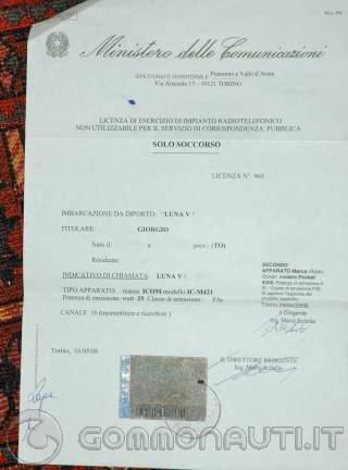 Certificato omologazione natanti