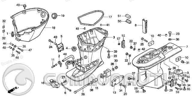 sostituzione perno del timone sul motore honda 90  pag  2