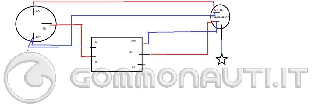 Schema Elettrico X9 250 : Collegare cavi avviamento elettrico