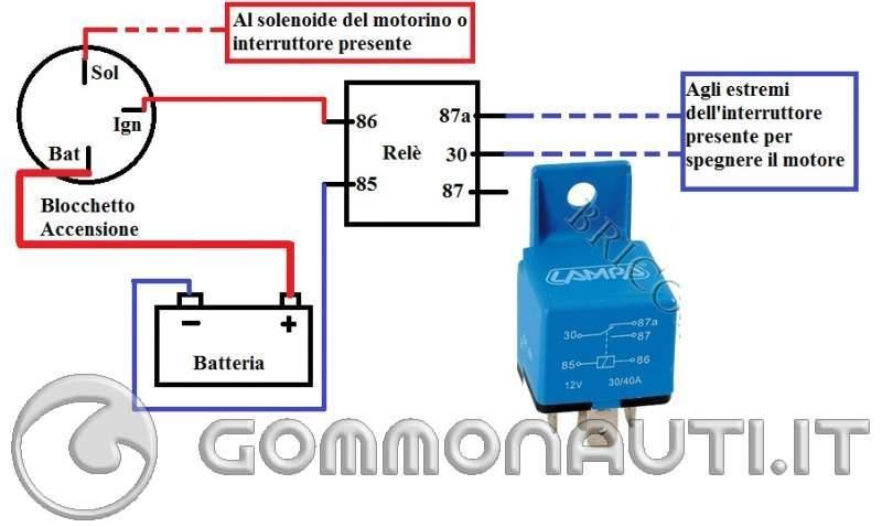 Schema Elettrico Motorino Avviamento : Collegare cavi avviamento elettrico pag