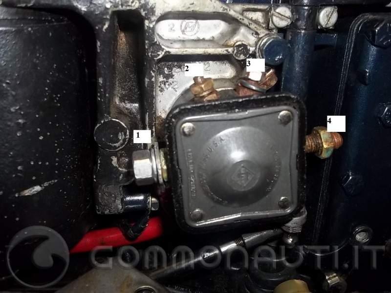 Schema Elettrico Evinrude 521 : Collegamento cavi circuito accensione evinrude xp 25