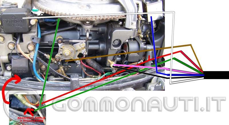 Schema Elettrico Johnson : Motore mariner hp problema collegamento fili pag