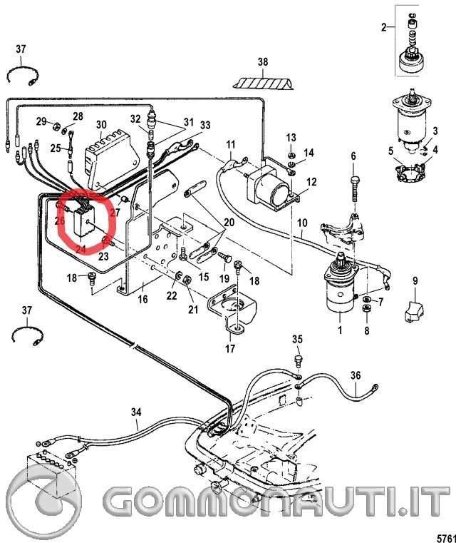 Schema Elettrico Motorino Avviamento : Collegamenti avviamento elettrico su motore force mystral