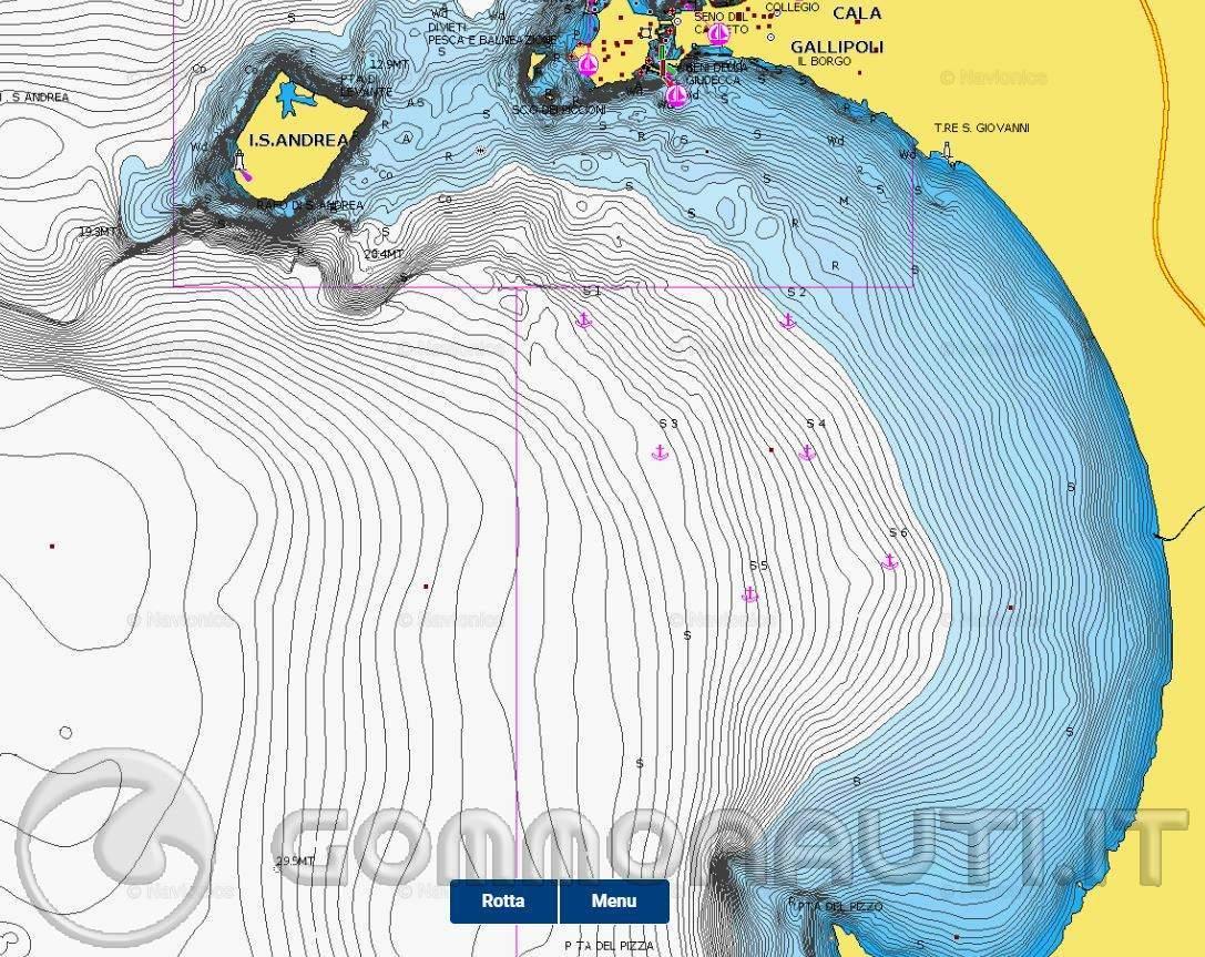 Navigazione entro le 6 miglia in presenza di punte o isole