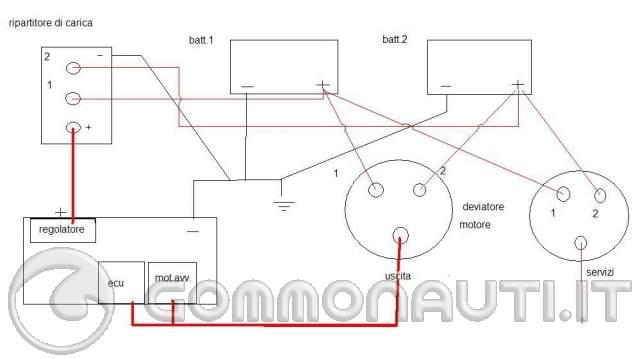 Schema Elettrico Ripartitore Di Carica : Istallazione del ripartitore di carica con deviatore