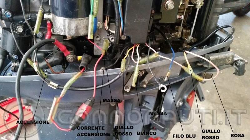 Schema Elettrico Yamaha Ttr : Yamaha j cablaggio fili staccati