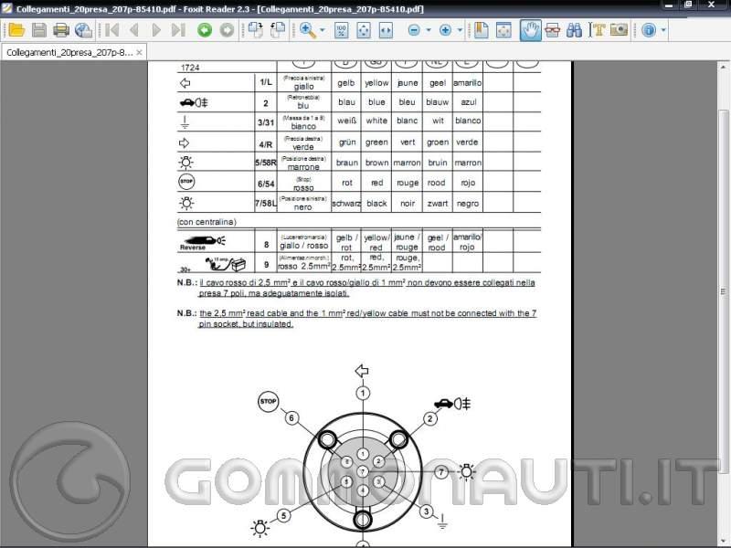 Schema Elettrico Cablaggio Gancio Traino : Indicatori di direzione invertiti pag