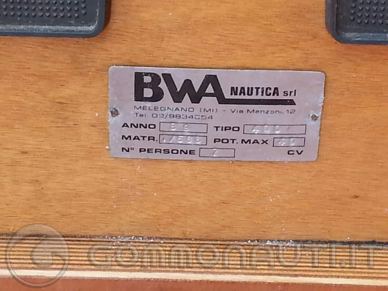BWA 400 smontabile raro e perfetto
