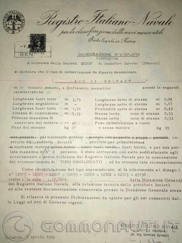 """re: Ritorno  al Passato  """"Embarcation Pneumatique Compact"""" Type 2578  anno 1970"""