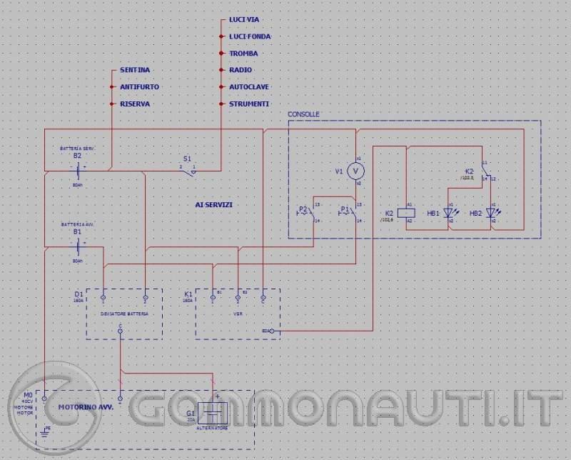 Schema Elettrico Ripartitore Di Carica : Schema elettrico doppia batteria e ripartitore di carica