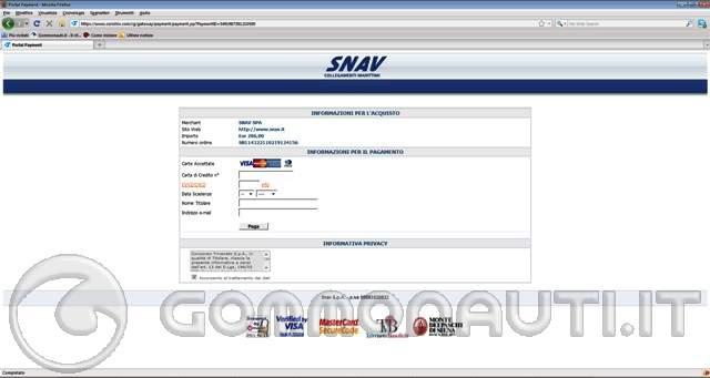 Prenotazione SNAV on line: ATTENZIONE!