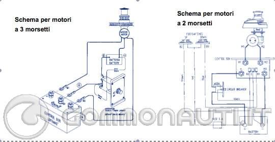 Schema Elettrico Teleruttore : Salpa ancore collegamenti elettrici